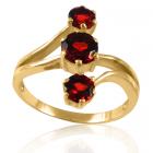 Золотое кольцо с гранатом «Vilonchel»