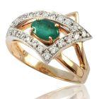 Золотое кольцо с изумрудом «Carta Dorada»