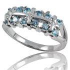 Золотое кольцо с топазом «Кирия»