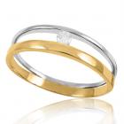 """Золотое кольцо с бриллиантом """"Ты рядом"""""""