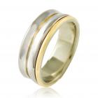 Золотое обручальное кольцо «True Love»