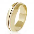 Золотое обручальное кольцо «Серенада»
