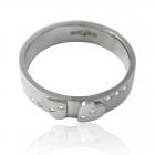 """Золотое обручальное кольцо с бриллиантами """"You & Me White"""""""