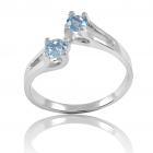 Золотое кольцо с топазами «Беллатрикс»