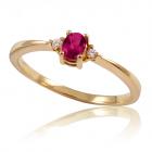 """Золотое кольцо с рубином  """"Лия"""""""
