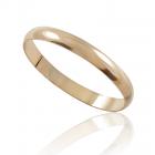 Золотое обручальное кольцо тонкое