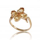Золотое кольцо с цитрином «Анжела»