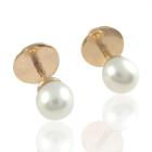 Золоті сережки з перлинами «Facilidad»