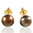 Золотые серьги с жемчугом «Наяда»