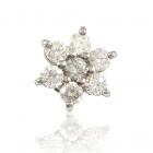 Золотая серьга с бриллиантами «Нежное соцветие»