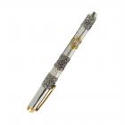 """Серебряная ручка с позолотой  """"Звезда Давида"""""""