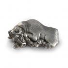 Срібний затискач для грошей «Бик»