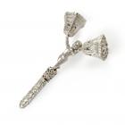 Серебряная погремушка «Колокольчик»
