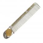 Расческа из серебра «Римская монета» с позолотой