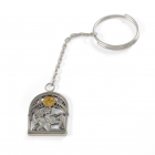 Брелок из серебра «Близнецы»