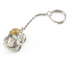 Серебряный брелок для ключей «Машинка»