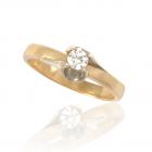 Золотое кольцо с бриллиантом 0.1 ct «Rita»