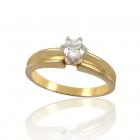 Золотое кольцо с бриллиантом «Скрипачка»