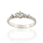 Золотое кольцо с бриллиантами «Звездная пыль»