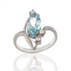 Золотое кольцо с топазом «Моя звезда»