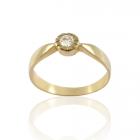 Золотое кольцо с бриллиантом «Коко»