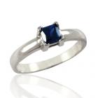 Золотое кольцо с сапфиром «Гармония»