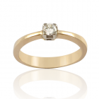Золотое кольцо с бриллиантом  «Радость»