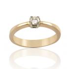 Золоте кільце з діамантом «Дімантова радість»