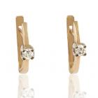 Золотые серьги с бриллиантами «Радость»