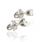 Золотые серьги-пусеты с бриллиантами 0.2 карата «Мария»