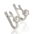Золоті сережки з діамантом «Царівна Будур»