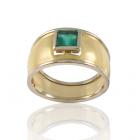 Золотое кольцо с изумрудом «Olivia»