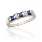 Золотое кольцо с сапфирами «Annamaria»