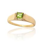 Золотое кольцо с хризолитом «Новый свет»