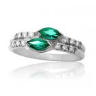 Золотое кольцо с изумрудами «Виктория»