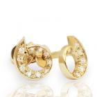 Золотые пусеты с бриллиантами «Энергия»