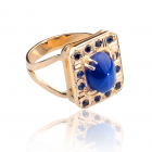 Золотий перстень з сапфірами «Лавина любові»