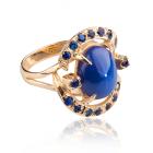 Золотое кольцо с сапфиром «Венера»