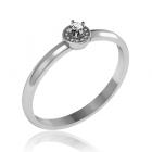 Золоте кільце з діамантом «Sharon»