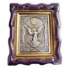 Срібна ікона «Янгол Охоронець» з позолотою
