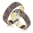 Парные обручальные кольца с сапфиром «Вечные ценности»