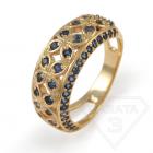 """Золотое кольцо с сапфиром """"Времена года"""""""