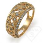 """Золотое кольцо с топазом """"Времена года"""""""