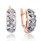 Золотые серьги с бриллиантами «Соблазн Калерии»