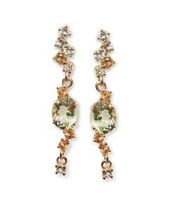 Золотые серьги с хризолитом «Джианна Фаньяно»