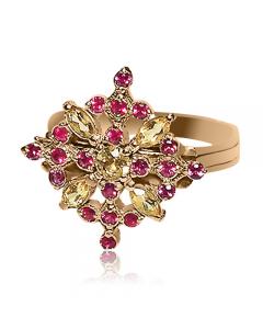 Золоте кільце з рубіном «Francesca Basso»