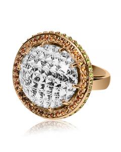 Золоте кільце з цитрином «Isadora»