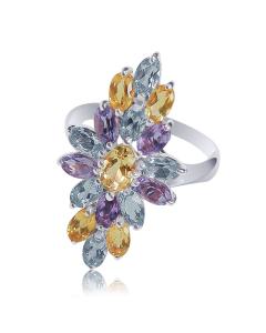 """Золотое кольцо с цитрином """"Angelica de Martino"""""""