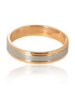 Обручальное мужское кольцо без камней «Пять»
