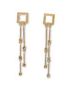 Золотые серьги с цитрином «Велия де Контэ-II»